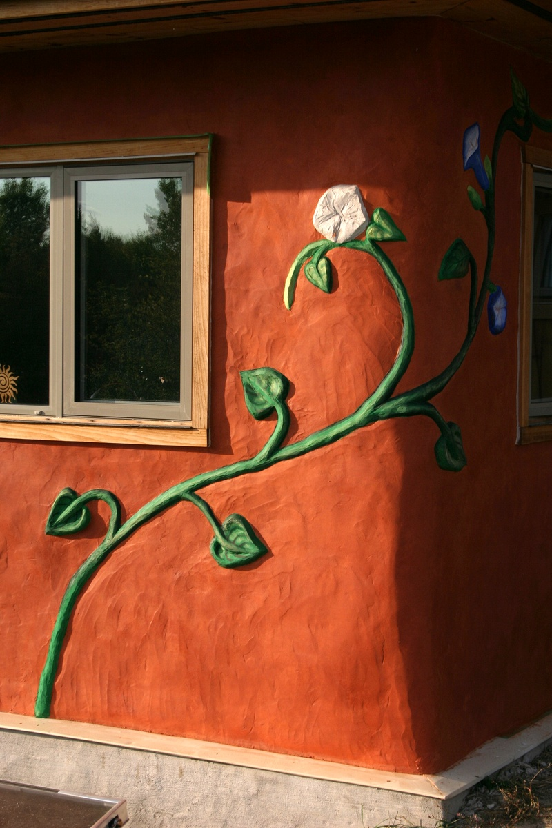 Painted lime plaster