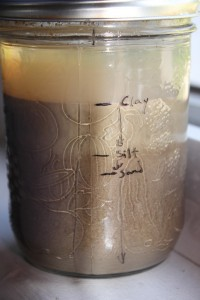 The jar test for soil